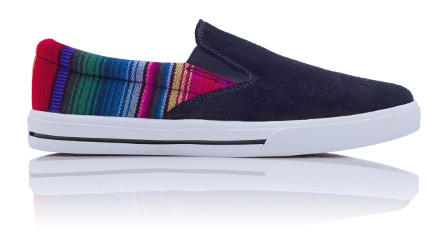 8. Leather Slip On - Rainbow (Right)