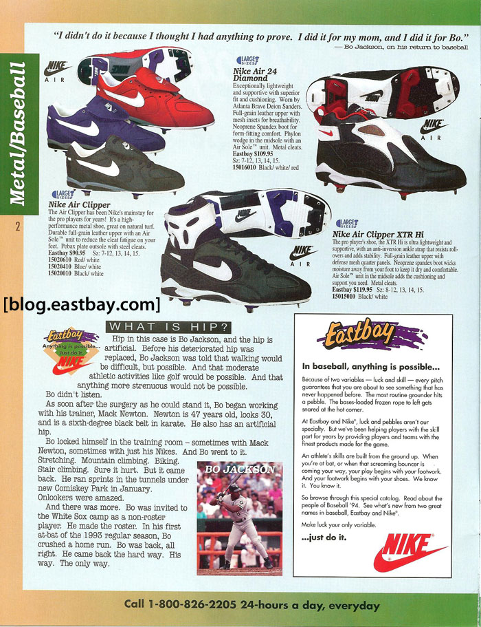 cf686b0b373 Memory Lane  Bo Jackson   Nike Baseball 1994 bY  Eastybay