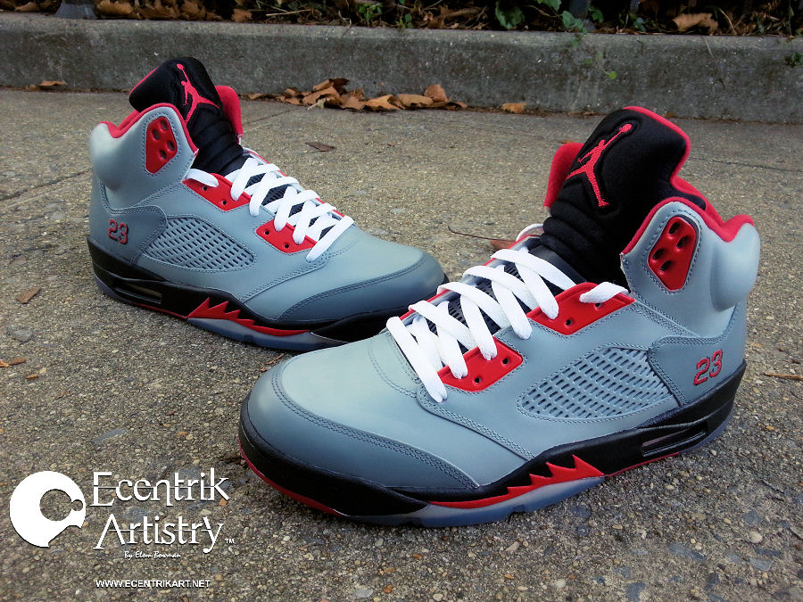 "165aac87062d64 These are the Jordan 5 ""Stealth III"" customs. Named after the retro Stealth  IIIs (one of my favorite Jordan retro releases)"