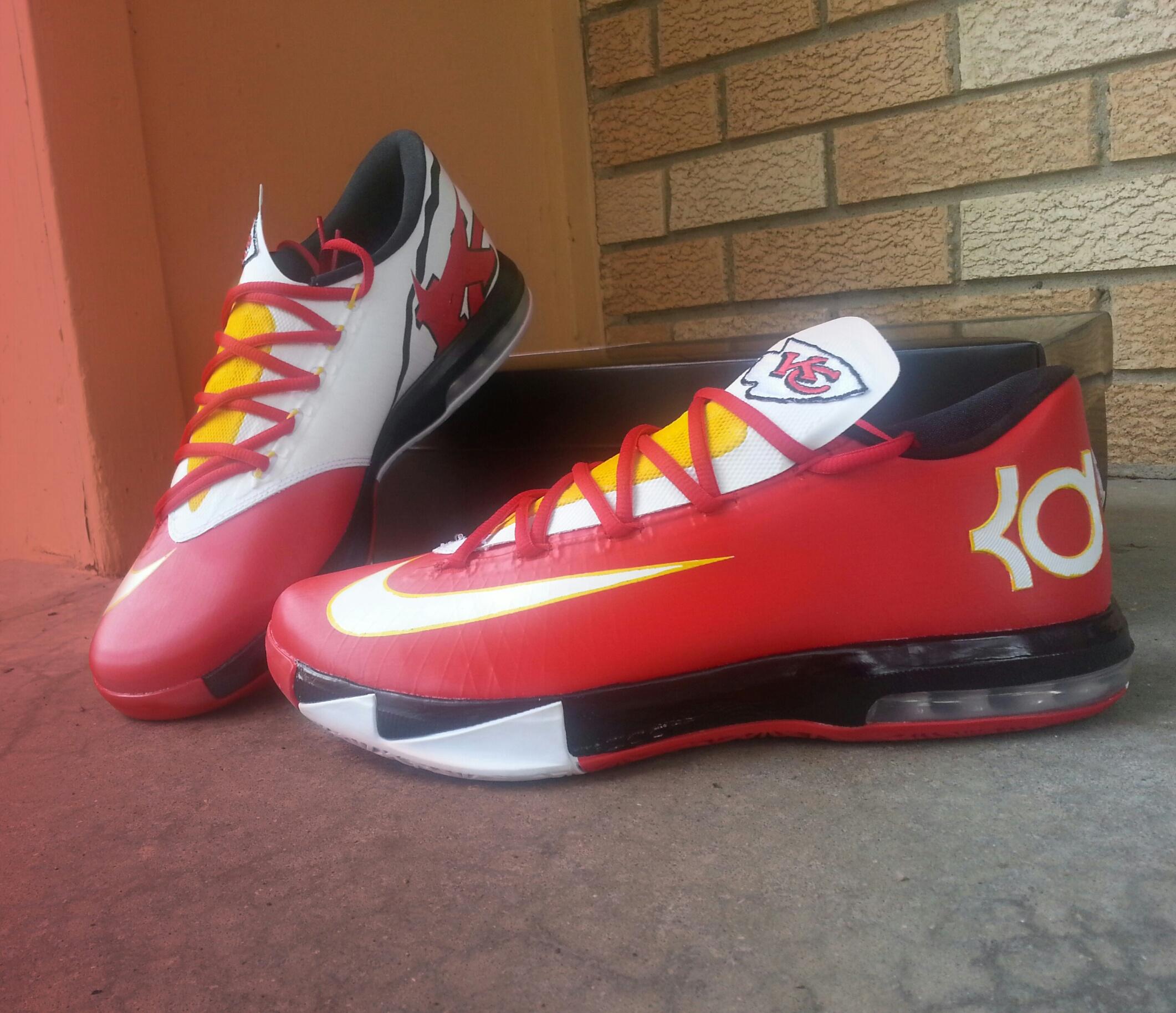 quality design 0089e f35e3 Nike KD VI Kansas City Chiefs Custom By  DreSrKC