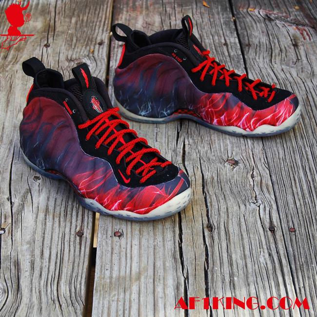 """16a9ff69ab5ac Nike Air Foamposite One """"Norman You Devil"""" Custom By  GourmetKickz ..."""
