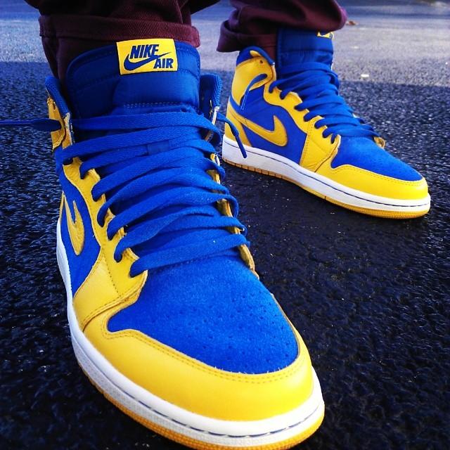 "new product 7f8f2 1e9cb  DopeShot –  wheninrome23 Rockin The Air Jordan 1 Retro ""Laney""   Kicks  Addict l The Official Sneaker Head s Online Magazine   Blog"