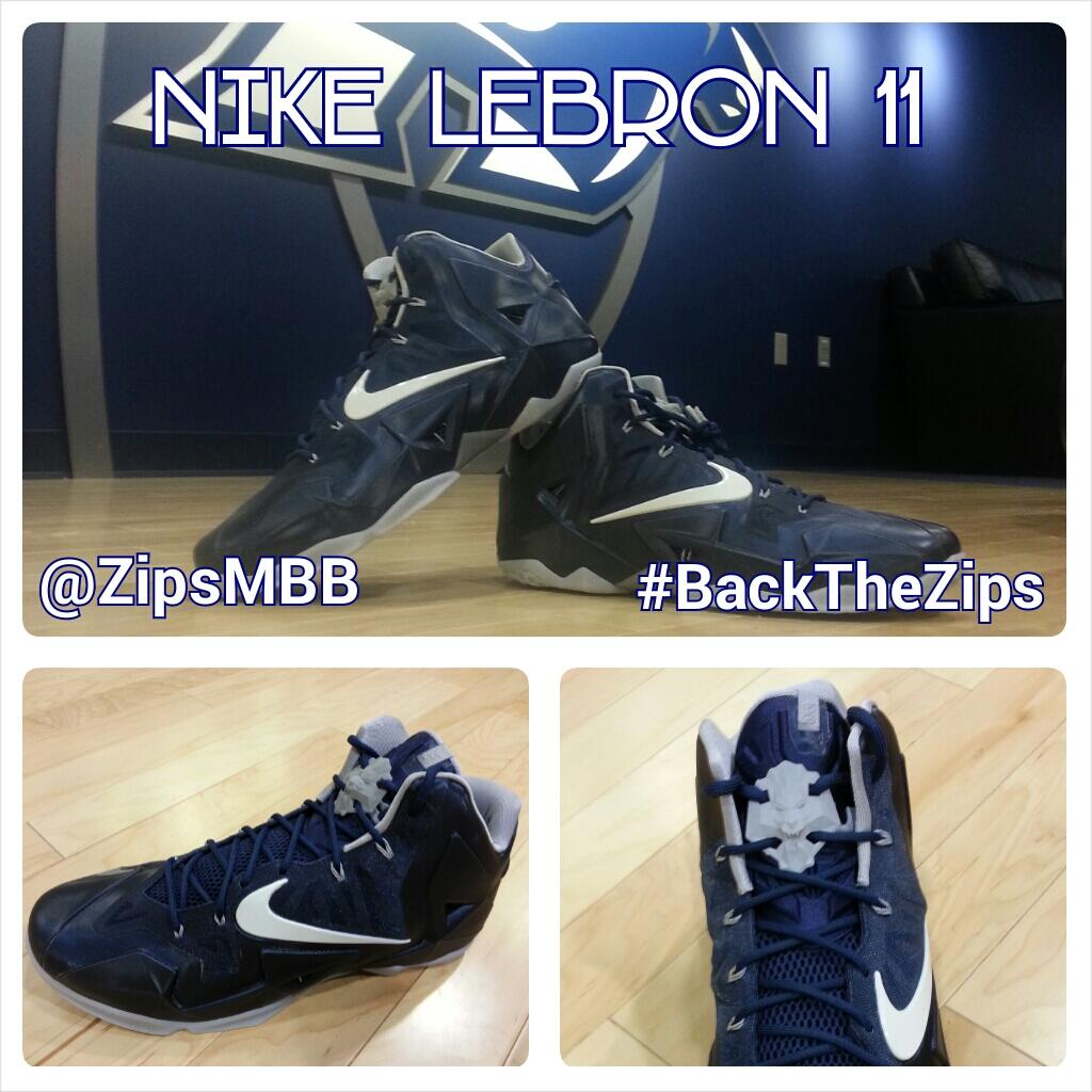 "separation shoes 2c831 71668 Nike LeBron 11 ""Akron Zips"" PE   Kicks Addict l The Official Sneaker ..."