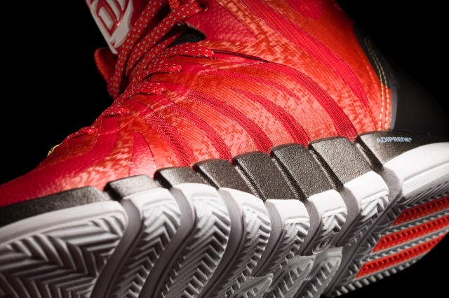 D Rose 4.5 Light Scarlet-Black-White Detail 2 (G66977)