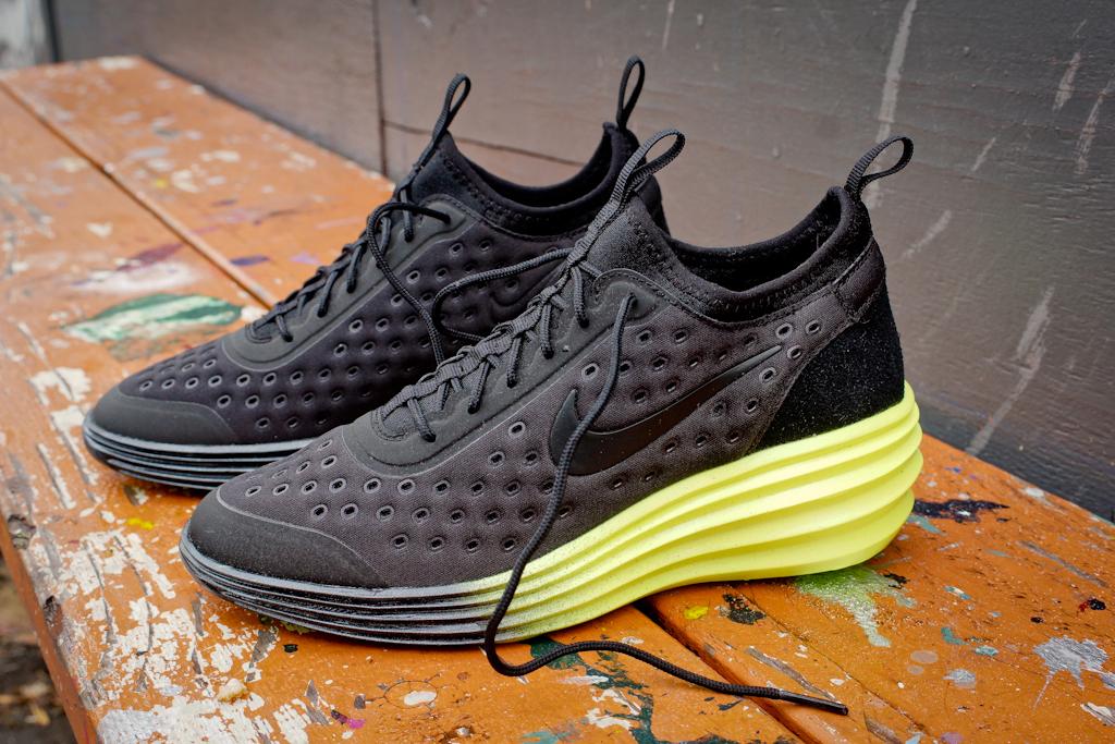 68da6e057ad3 Nike WMNS LunarElite Sky Hi QS Black Neon