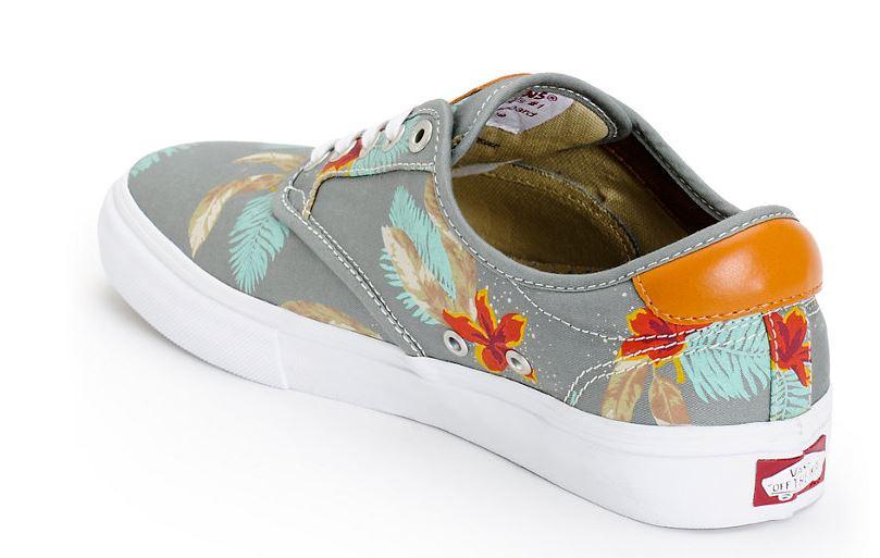 98f46b9bd41bf6 Vans Chima Pro Aloha   Grey Skate Shoes