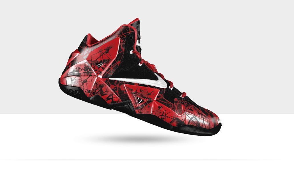 save off 5f3f6 74fcc Nike Lebron XI iD – Graffiti Option   Kicks Addict l The Official ...