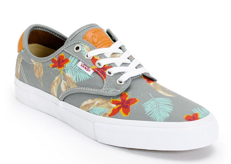 90bd2fef1298b2 Vans Chima Pro Aloha   Grey Skate Shoes