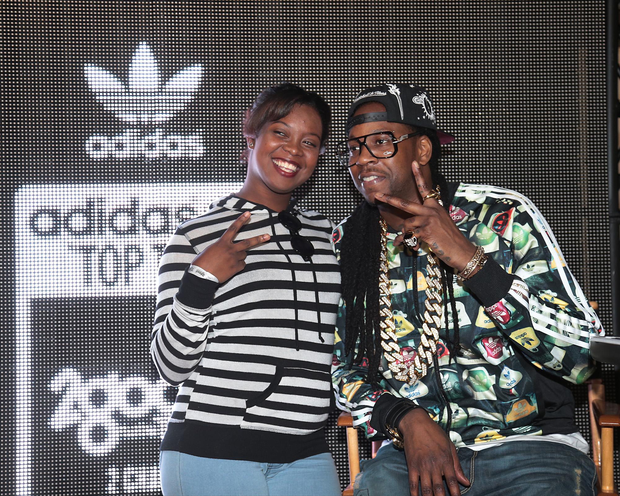 """new product cb80c d2e15 ... 2014 adidas in the Quarter. 2 Chainz visited adidas in the Quarter to  celebrate the launch of adidas Originals Top Ten Hi """"2 Good to be T.R.U."""""""