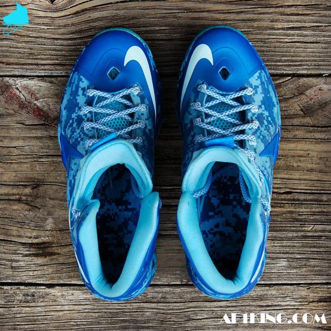 "b7348757a74 Nike LeBron X ""Chill Blue Camo"" by  GourmetKic kz"